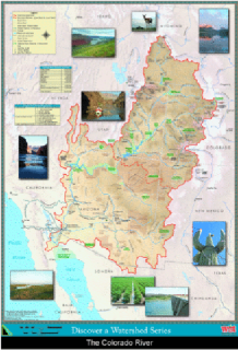 Colorado River Watershed Map, PDF DOWNLOAD