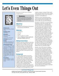 """Let's Even Things Out"" Activity, PDF DOWNLOAD"