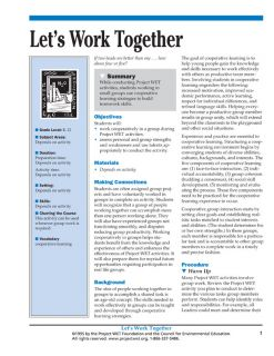 """Let's Work Together"" Activity, PDF DOWNLOAD"