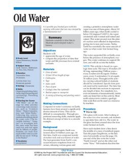 """""""Old Water"""" Activity, PDF DOWNLOAD"""