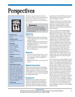"""""""Perspectives"""" Activity, PDF DOWNLOAD"""