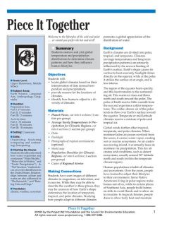 """""""Piece It Together"""" Activity, PDF DOWNLOAD"""