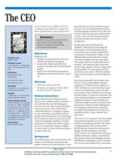 """""""The CEO"""" Activity, PDF DOWNLOAD"""