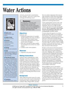 """""""Water Actions"""" Activity, PDF DOWNLOAD"""