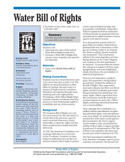 """""""Water Bill of Rights"""" Activity, PDF DOWNLOAD"""