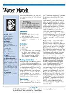"""""""Water Match"""" Activity, PDF DOWNLOAD"""