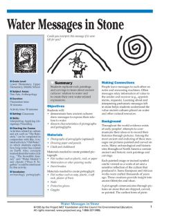 """""""Water Messages in Stone"""" Activity, PDF DOWNLOAD"""