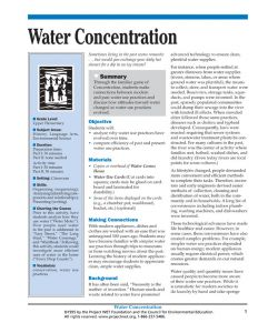 """Water Concentration"" Activity, PDF DOWNLOAD"